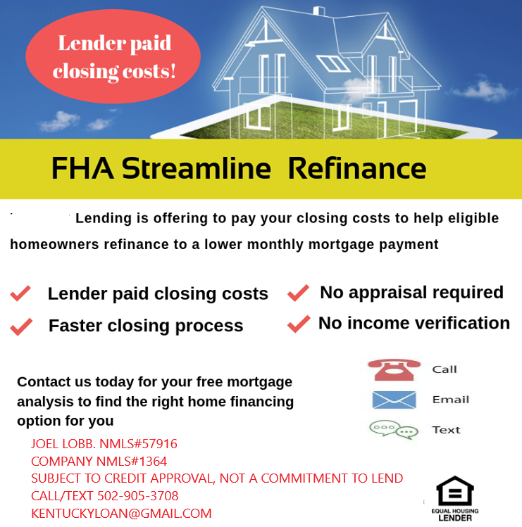 How to refinance a Kentucky FHA loan in Kentucky?